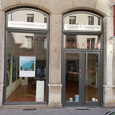 La galerie Franck Lassagne tout proche de la plce Bellecour