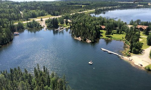 Bakers Narrows Lodge from the air