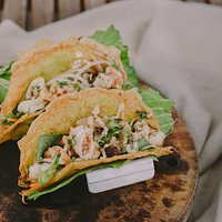 Banh Xeo Tacos - huddle up with them on our rooftop.