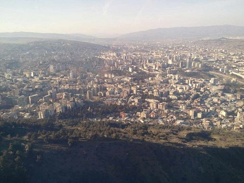 View of Tbilisi from Mtatsminda mount