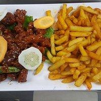 Crispy Chicken with masala fries