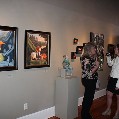 """From our """"Other Worlds"""" opening.  Exhibition runs through May 20, 2017.  Notice James Borger's w"""