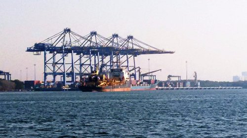 Giant Cranes at the container harbour