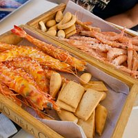 Two varieties of shrimps