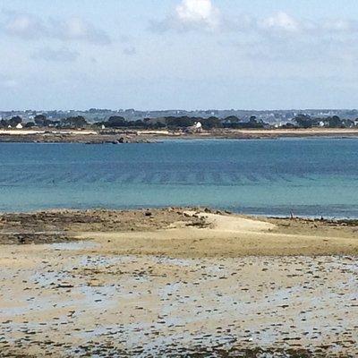 de l îlot saint anne une petite vue sur l'île calot...couleur superbes