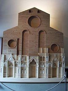 Santa Maria del fiore Firenze  Ricostruzione facciata arnolfiana