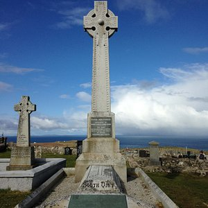 The grave of Flora MacDonald who helped Bonnie Prince Charlie Escape.