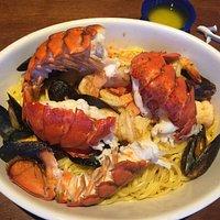 Lobster, shrimp, muscles of pasta