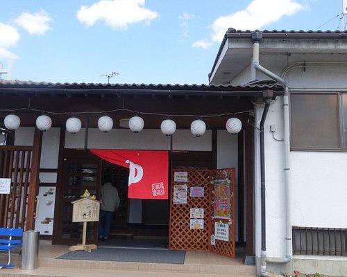入り口、千曲川沿いにあります