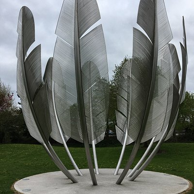 The Kindred Spirits Monument, raised as a thank-you to the Choctaw Nation, for their contributio