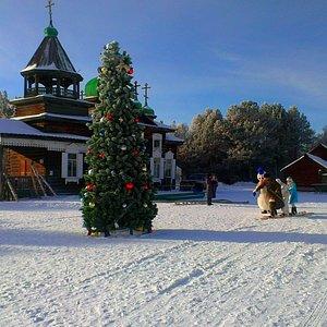 """Зимняя экскурсия по музею деревянного зодчества """"Тальцы"""""""