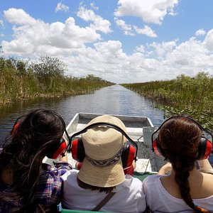 Ride down the canal on the way to Everglades swamps