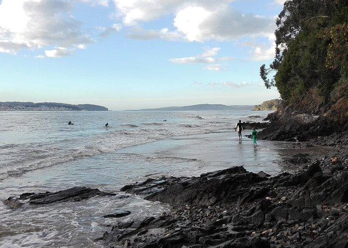 Insua, near Miño. Great surf spot when big storm in open sea