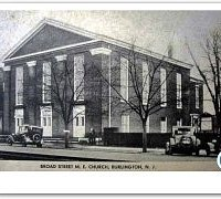 An antique postcard depicting Broad Street United Methodist Church