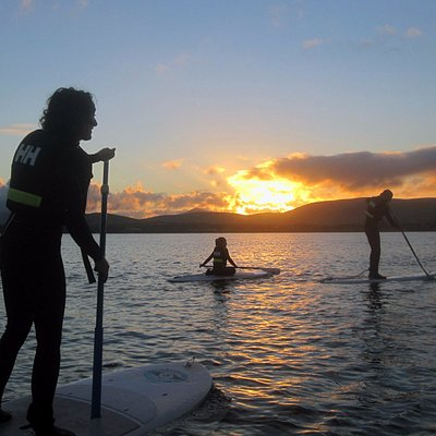 Paddling at sunset is a singular experience