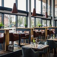 Ein angehängte Sichtreihe ermöglicht eine optimale Sichtachse im Restaurant.
