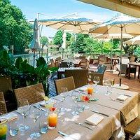 La Terrasse du Germinal sur la Vilaine, hôtel restaurant aux portes de Rennes.