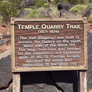 Temple Quarry Trail sign