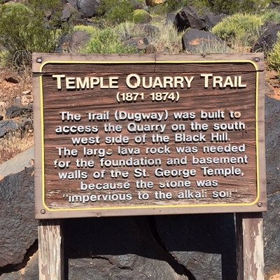 Temple Quarry Trail sign