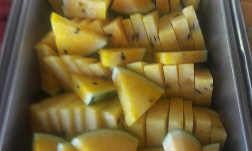 yellow watermelon sweet and fresh
