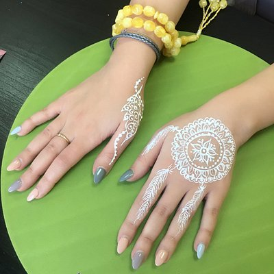 white Henna dream catcher