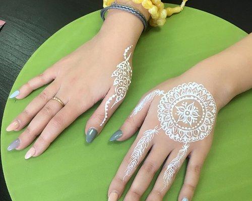 white Henna dream catcher
