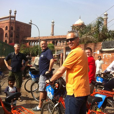 View on the majestic Jama Masjid (main mosque) of Old Delhi - Shah Jahan tour