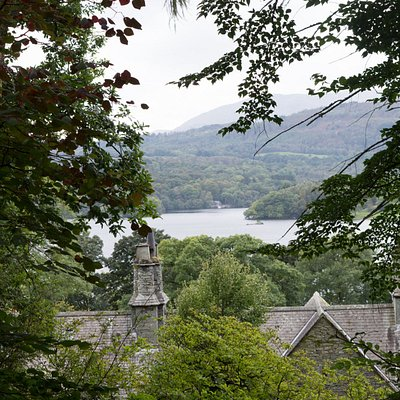 Photo of view from Stagshaw Garden