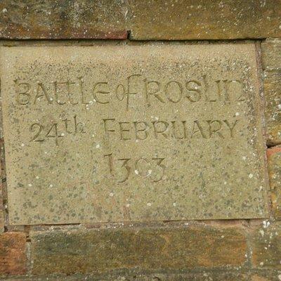 Battle of Roslin Memorial Cairn in spring