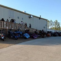 At skooterz, you'll see lots of Bikers, lots of them, Laid back