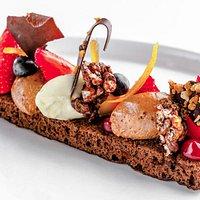 Dessert autour du chocolat belge
