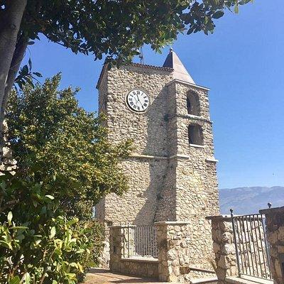 Il Campanile e la Torre dell'Orologio visto da una terrazza soprastante l'Oasi