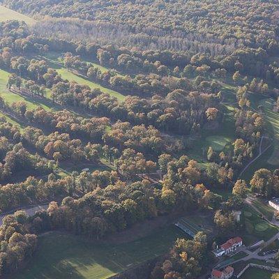 Vue aérienne du parcours de l'Exclusiv Golf de Bethemont