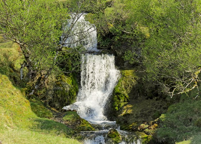 lovely little waterfall by the road