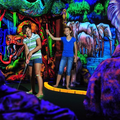 A spectacular 3D Black-light mini golf!!!!