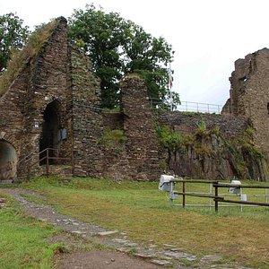 around the castle ruins