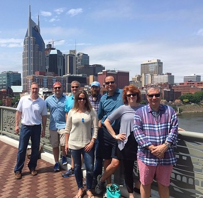 Fun group out on the Free Downtown walking tour today!