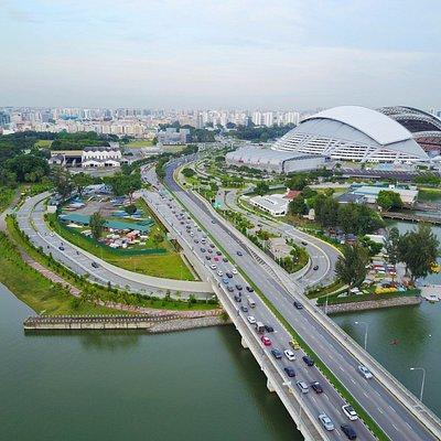 Sport Hub Stadium from Kallang Riverside