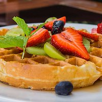 There's nothing better than starting the day with one of our Waffles with Fresh Seasonal Fruit!