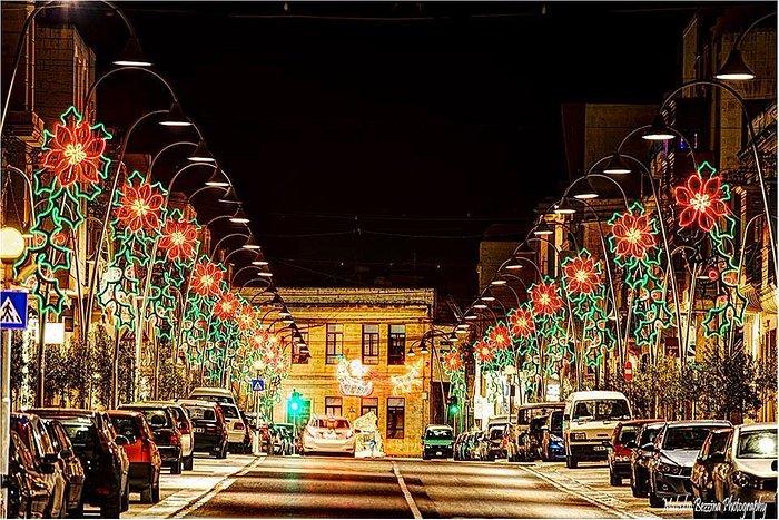 Zebbug Main Road decorated for Christmas