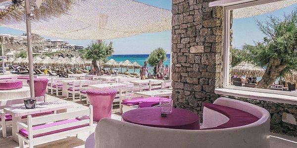 Table overlooking Paradise Beach.