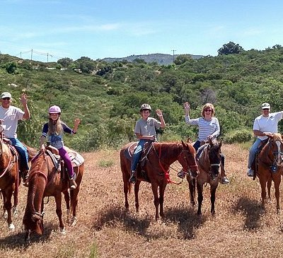 Celebrating our 10 year old niece's birthday with Adventures On Horseback