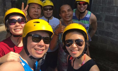 All set for ATV with our tour guide in photo!