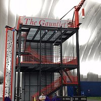 The Gauntlet. HUGE multistory climbing, running, torture contraption!