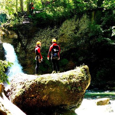 Teilnehmer der Einsteigertour im Ostertaltobel