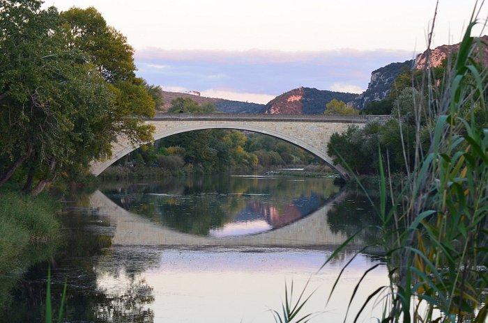Le pont sur le Verdon à Gréoux-les-Bains
