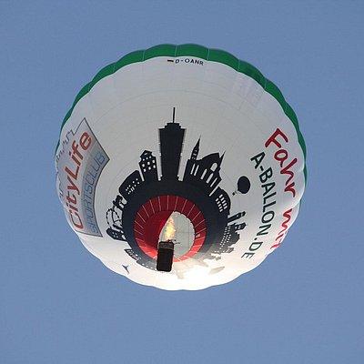 Der Augsburg Ballon in der Luft!