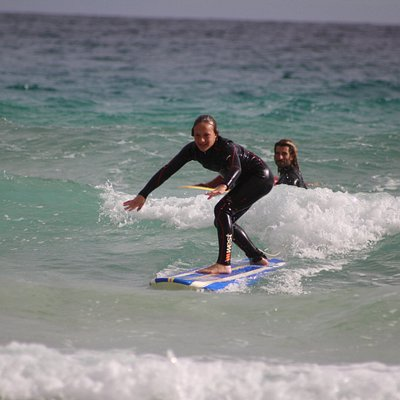 perfect mellow waves for learn surf with the close help of our instructors