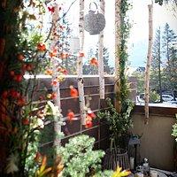 Fall wedding arbor - photo credit Rachel Boekel