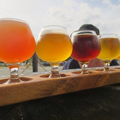 Garrison Brewery flight